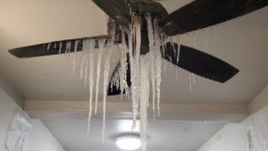 Iced Up Ceiling Fan